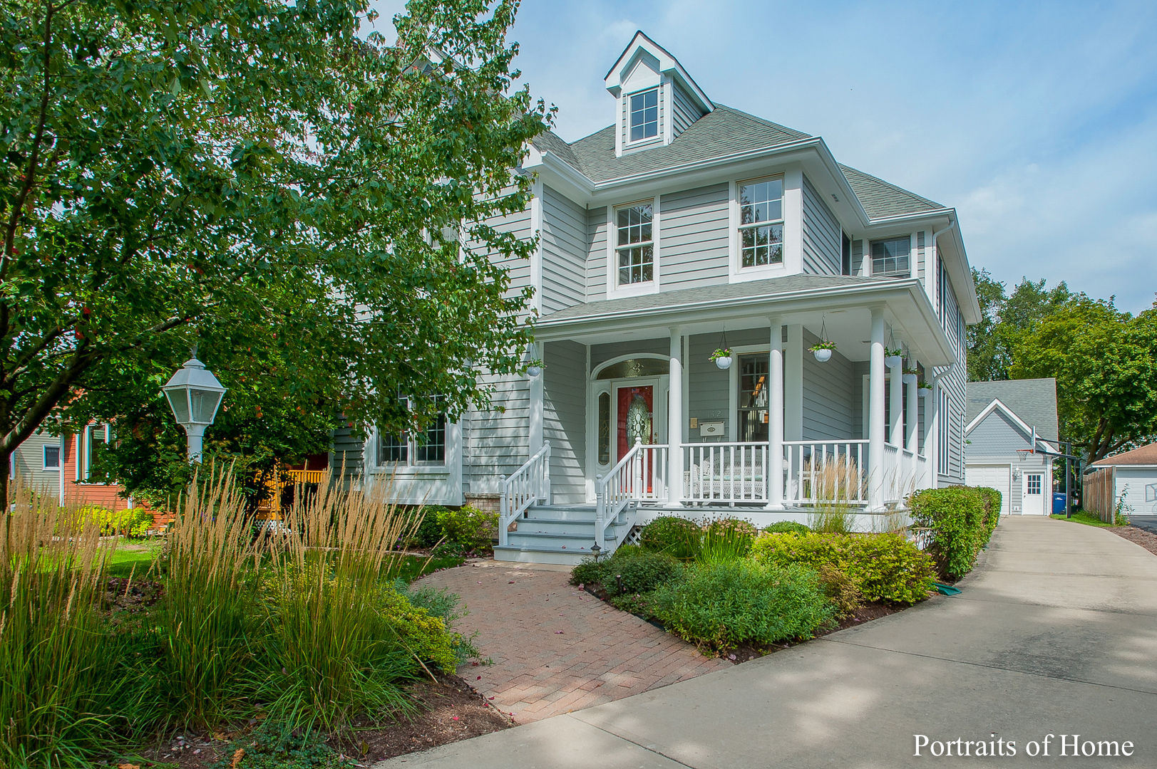 Spectacular custom built home in Lombard's finest neighborhood, walking distance to Metra/Downtown Lombard, Parkview School, walking paths and parks.  Main level featuring a custom kitchen with new stone countertops, stainless appliances and massive island that opens to large eating area and awesome 2 story family room with fireplace. Beautiful living room and separate formal dining room, main level den and laundry room. Second level with 4 large bedrooms, master bedroom with vaulted ceiling, cedar walk-in closet and new updated master bath with separate shower and tub. Ginormous finished basement with terrific rec area separate workout room and full bath. Beautifully landscaped yard features brick paver patio and gazebo. 3 car detached garage with finished office on 2nd level with hardwood flooring and HVAC. Newer: Generac generator, two tank hot water heater system, furnace, central vac, washer and dryer, kitchen appliances, kitchen lighting and countertops, master bath, Wifi smart t