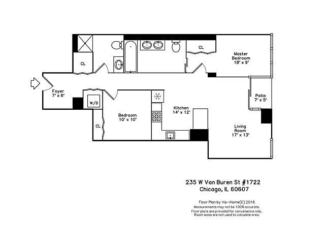 235 W Van Buren St Floor Plans