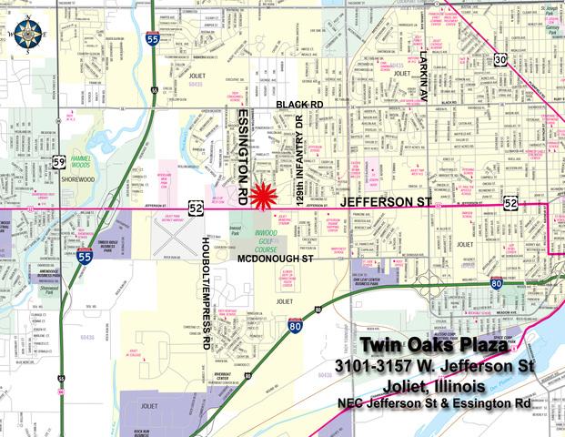 A Jefferson Street JOLIET IL Commercial Property Listing - Joliet map