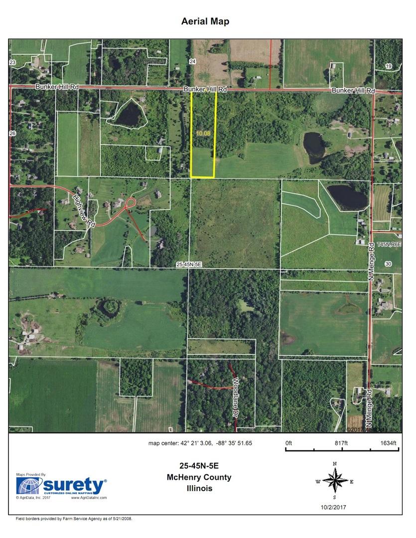 Bunker Hill Illinois Map.10 Ac Bunker Hill Road Harvard 60033 John Greene Realtor