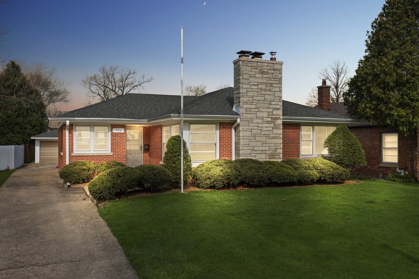 Beautiful brick ranch in desirable South Villa Park location offers 2400 sq ft of quality living space. The main level features 3 nice sized bedrooms, eat in kitchen with white cabinetry, new flooring and new oven range, large living room and full bath. Spectacular hardwood flooring throughout ! Gigantic finished basement with 4th bedroom, large family room, laundry area and shop. Terrific yard and two car garage. Newer roof and furnace. This is a high quality property in a superb location. Hurry, will not last!